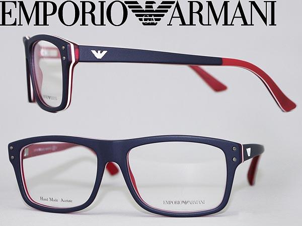768a9c449e5d Emporio Armani eyeglass frame mat Navy x matte white EMPORIO ARMANI  eyeglasses glasses EMP-EA-9866-YW0 branded mens  amp  ladies   men for   amp  ...