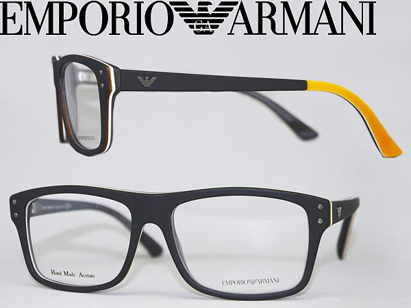 33c3bb414b0 Frame of glasses Emporio Armani matte black × yellow EMPORIO ARMANI  eyeglasses glasses EMP-EA-9866-YYM branded mens   ladies   men for   woman  sex for and ...
