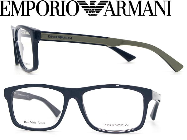 76bcb70efaf Emporio Armani glasses Navy × dark grey Wellington-EMPORIO ARMANI glasses  frames glasses EMP-EA-9889-MNB WN0027 branded mens   ladies   men for    woman sex ...