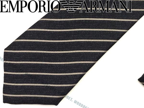 EMPORIO ARMANI エンポリオアルマーニ シルク ネクタイ ブルーグレー×グレー 340049-7A503-00044 ブランド ビジネス/メンズ/男性用