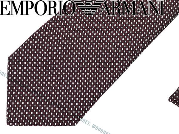 EMPORIO ARMANI エンポリオアルマーニ シルク ネクタイ バーガンディー 340049-7A622-00176 ブランド/メンズ/男性用
