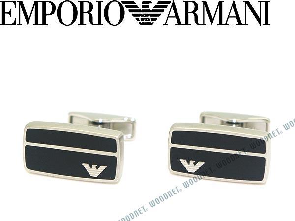 エンポリオアルマーニ カフスボタン EMPORIO ARMANI マットシルバー×マットブラック アクセサリー EGS2033040 ブランド/メンズ&レディース/男性用&女性用