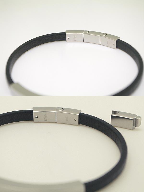 エンポリオアルマーニ マットシルバー×ブラック ブレスレット EMPORIO ARMANI アクセサリー EGS2063040 ブランド/メンズ&レディース/男性用&女性用