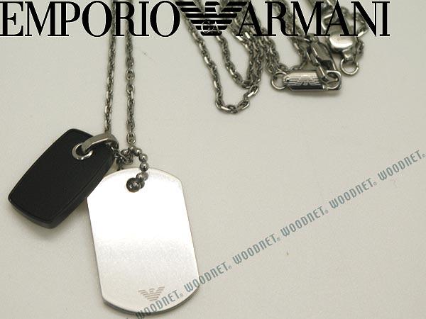 EMPORIO ARMANI エンポリオアルマーニ ネックレス シルバー×ブラック アクセサリー EGS2064040 ブランド/メンズ&レディース/男性用&女性用/チョーカー/ペンダント