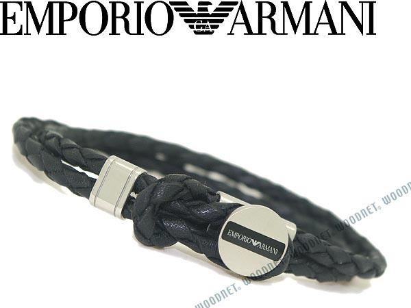 エンポリオアルマーニ ブレスレット EMPORIO ARMANI ブラック×シルバー アクセサリー EGS2178040 ブランド/メンズ&レディース/男性用&女性用