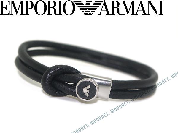 EMPORIO ARMANI ブレスレット エンポリオアルマーニ ブラック アクセサリーEGS2212040 ブランド/メンズ&レディース/男性用&女性用