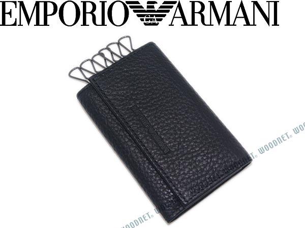 EMPORIO ARMANI キーケース ブラック エンポリオアルマーニ YEMG68-YC89J-80001 キーホルダー キーリング ブランド/メンズ&レディース/男性用&女性用