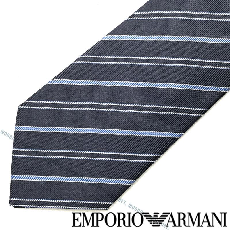 EMPORIO ARMANI ネクタイ エンポリオアルマーニ メンズ ストライプ柄 シルク ブルー 340075-307-11136 ブランド