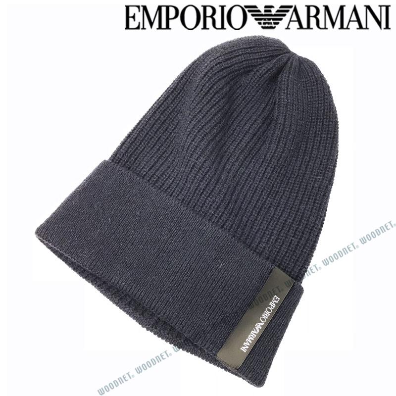 EMPORIO ARMANI 帽子 エンポリオアルマーニ ニット帽 メンズ&レディース ニットキャップ アルパカ ネイビー 627514-582-00036 ブランド