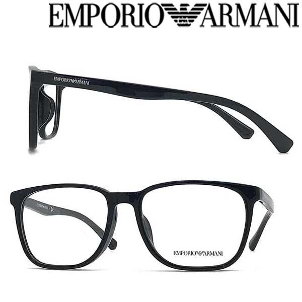 EMPORIO ARMANI メガネフレーム エンポリオ アルマーニ メンズ&レディース ブラック 眼鏡 EA3127F-5001 ブランド