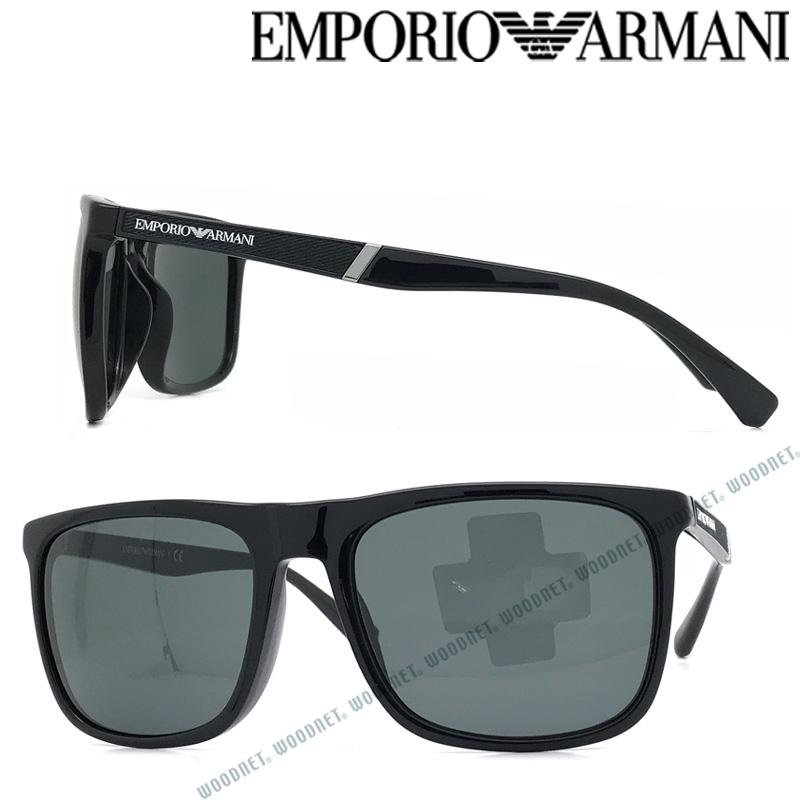 EMPORIO ARMANI サングラス エンポリオ アルマーニ メンズ&レディース ブラック EA4097F-501787 ブランド