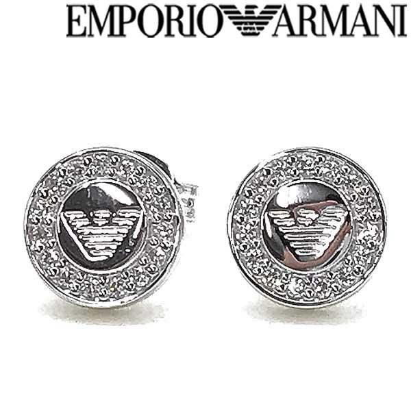 【人気モデル】EMPORIO ARMANI ピアス エンポリオアルマーニ メンズ&レディース シルバー素材 アクセサリー EG3053040 ブランド