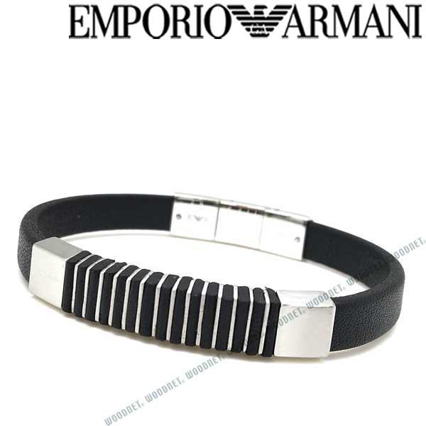 EMPORIO ARMANI ブレスレット エンポリオアルマーニ メンズ&レディース ブラック×マットシルバー EGS2536040 ブランド