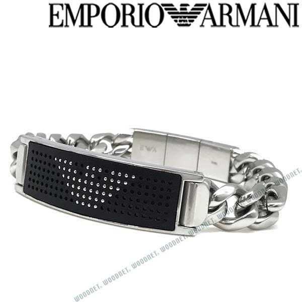 EMPORIO ARMANI ブレスレット エンポリオアルマーニ メンズ&レディース ブラック×マットシルバー EGS2548040 ブランド
