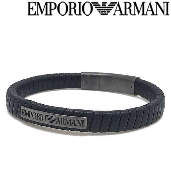 EMPORIO ARMANI ブレスレット エンポリオアルマーニ メンズ&レディース ブラック×ガンメタル ブレスレット EGS2638060 ブランド