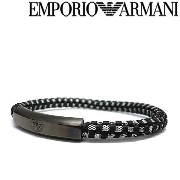 EMPORIO ARMANI ブレスレット エンポリオアルマーニ メンズ&レディース ガンメタル×ブラック×シルバー EGS2665060 ブランド