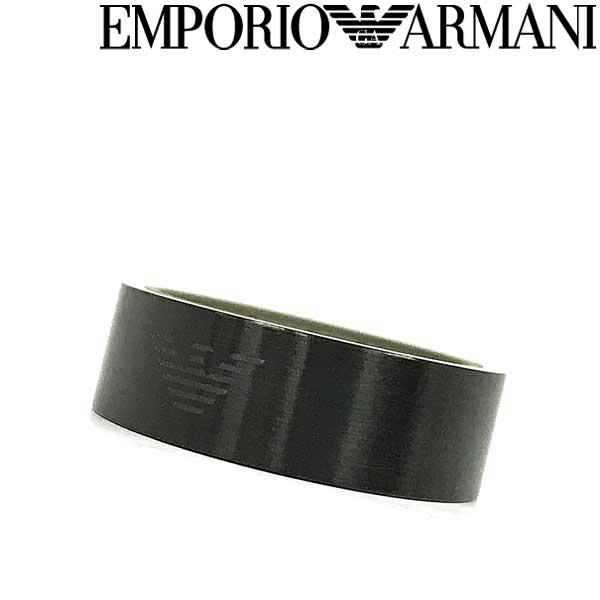 EMPORIO ARMANI リング・指輪 エンポリオアルマーニ メンズ&レディース マットブラック EGS2679001 ブランド