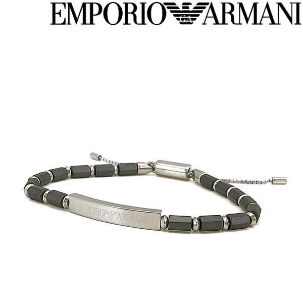 EMPORIO ARMANI ブレスレット エンポリオアルマーニ メンズ&レディース グレー×マットシルバー EGS2681040 ブランド