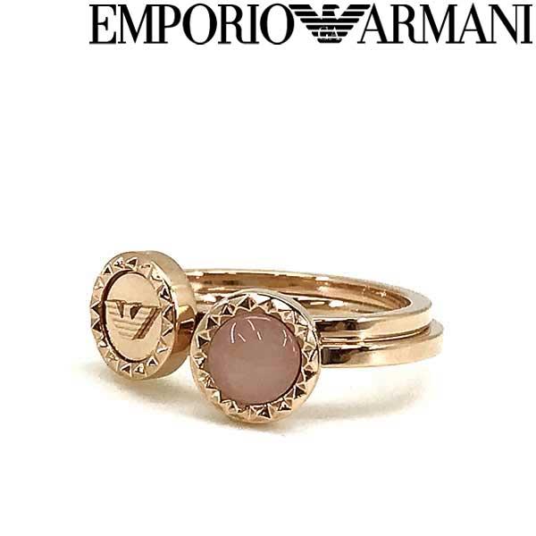 EMPORIO ARMANI リング・指輪 エンポリオアルマーニ メンズ&レディース ピンクゴールド 2連 EGS2694221 ブランド