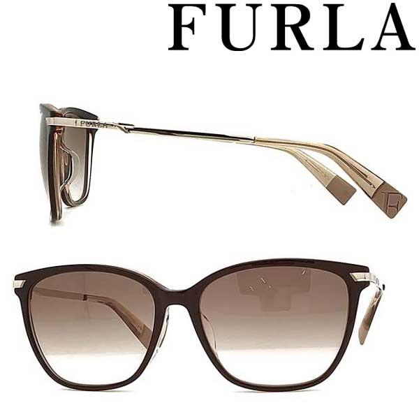 FURLA サングラス フルラ レディースブラウンピンクグラデーション SFU-384J-0AMF ブランド