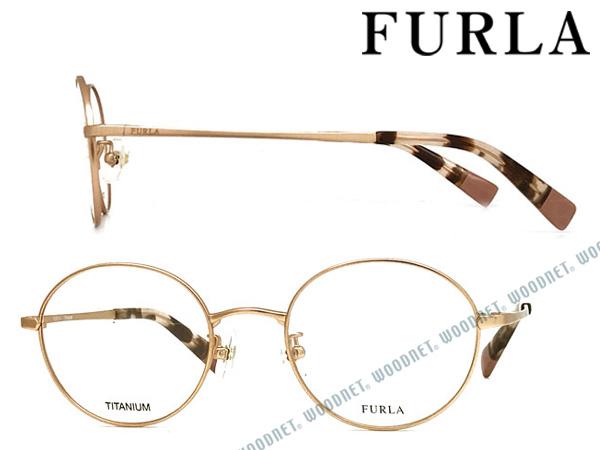 FURLA メガネフレーム フルラ ハーフマットピンクゴールド レディース 眼鏡 VFU-272J-02AQ ブランド