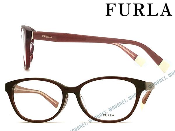 FURLA メガネフレーム フルラ クリアーダークワイン レディース 眼鏡 VFU-273J-0954 ブランド
