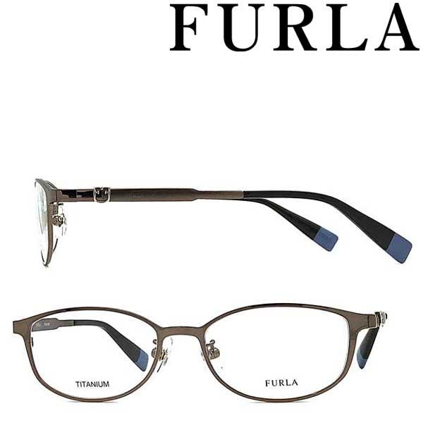 FURLA メガネフレーム フルラ レディース ブラウン 眼鏡 VFU-406J-08F4 ブランド