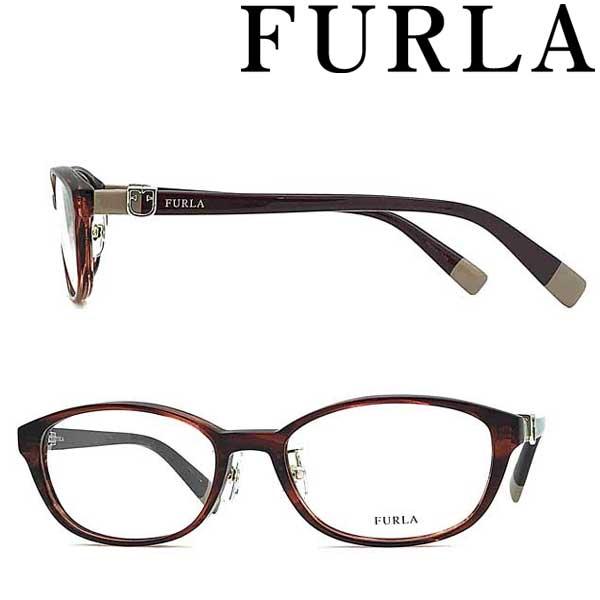 FURLA メガネフレーム フルラ レディース ウェービーダークレッド 眼鏡 VFU-409J-01FW ブランド