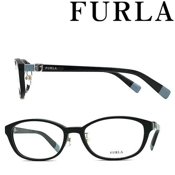 FURLA メガネフレーム フルラ レディース ブラック 眼鏡 VFU-409J-0700 ブランド