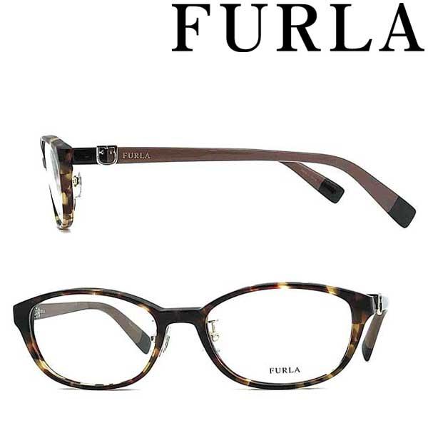 FURLA メガネフレーム フルラ レディース ダークハバナ 眼鏡 VFU-409J-07R5 ブランド