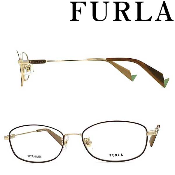 FURLA メガネフレーム フルラ ゴールド レディース 眼鏡 VFU-420J-0300 ブランド