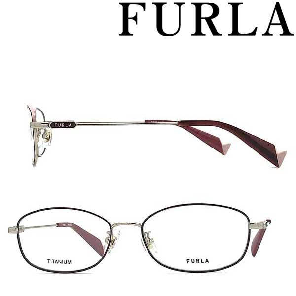 FURLA メガネフレーム フルラ ホワイトゴールド レディース 眼鏡 VFU-420J-0I88 ブランド
