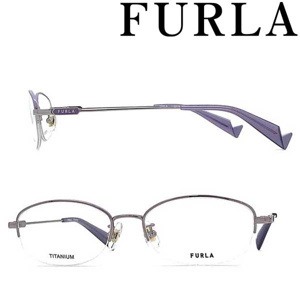 FURLA メガネフレーム フルラ ライトパープル レディース 眼鏡 VFU-421J-0A88 ブランド