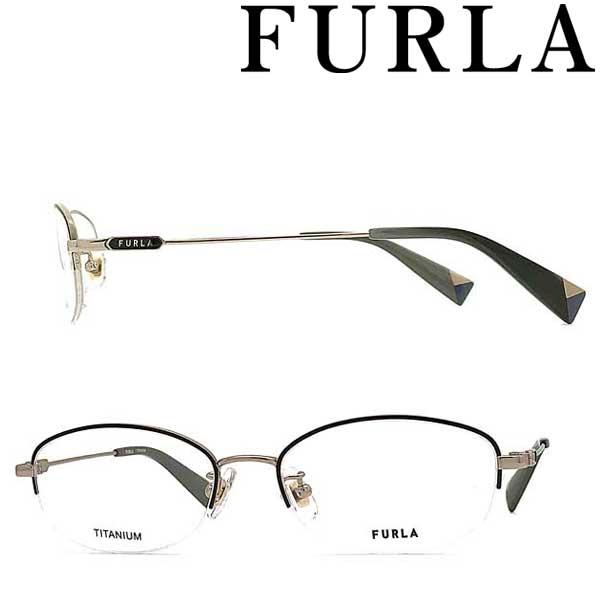 FURLA メガネフレーム フルラ ブラウンゴールド レディース 眼鏡 VFU-421J-316A ブランド