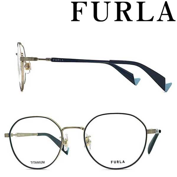FURLA メガネフレーム フルラ シャーリングホワイトゴールド レディース 眼鏡 VFU-422J-0383 ブランド