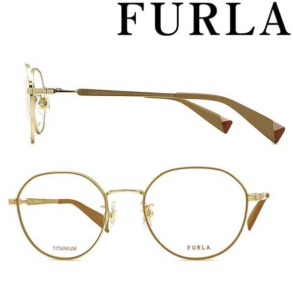 FURLA メガネフレーム フルラ ホワイトゴールド レディース 眼鏡 VFU-422J-0I88 ブランド