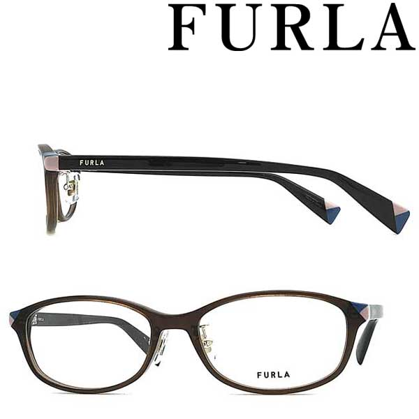 FURLA メガネフレーム フルラ クリアーブラウン レディース 眼鏡 VFU-424J-06W8 ブランド