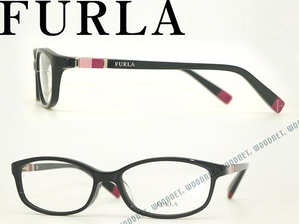 FURLA メガネフレーム ブラック VU-4989J-0700 フルラ 眼鏡 めがね ブランド/レディース/女性用/度付き・伊達・老眼鏡・カラー・パソコン用PCメガネレンズ交換対応/レンズ交換は6,800円~