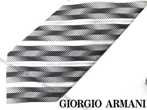 GIORGIO ARMANI ネクタイ ジョルジオアルマーニ シルク ホワイト×シルバー 360054-8P917-06541 ブランド