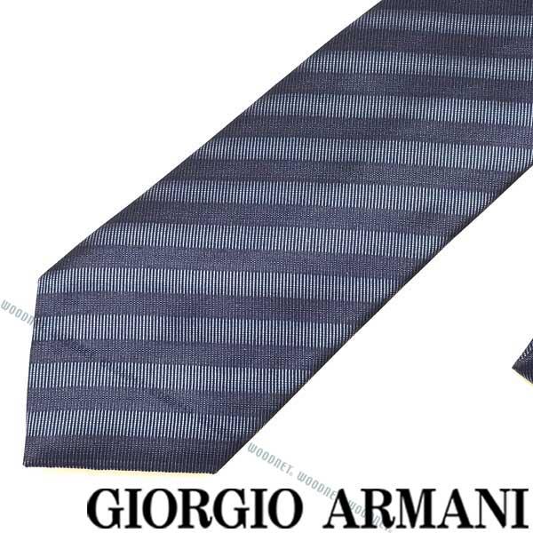 GIORGIO ARMANI ネクタイ ジョルジオアルマーニ シルク メンズ ネイビー×ブルー 360087-915-17433 ブランド