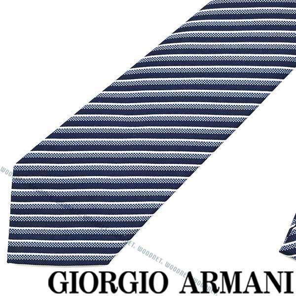 GIORGIO ARMANI ネクタイ ジョルジオアルマーニ シルク メンズ ネイビー×ブルー×ホワイト 360087-920-17433 ブランド