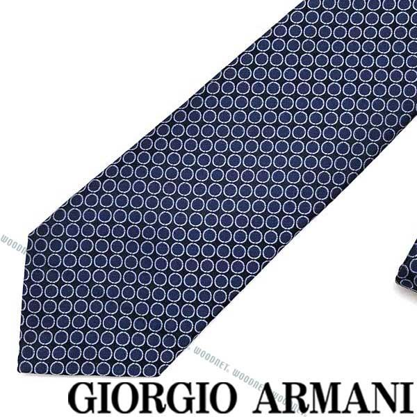 GIORGIO ARMANI ネクタイ ジョルジオアルマーニ シルク メンズ ネイビー×ブルー 360087-928-02833 ブランド