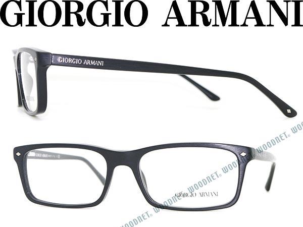 edbedfeb58f woodnet  Giorgio Armani eyeglasses matte black square type GIORGIO ...