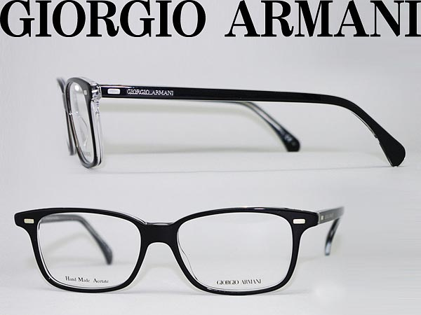 96e00ded208 Giorgio Armani eyeglass frame black x クリアスケルトン GIORGIO ARMANI eyeglasses  glasses ARM-GA-807-7C5 branded mens   ladies   men for   woman sex for and  ...