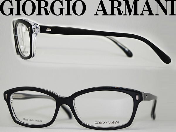 7dc7b202973 Giorgio Armani glasses black x clear GIORGIO ARMANI glasses frames glasses  ARM-GA-974-7C5 branded mens  amp  ladies   men for  amp  woman sex for and  once ...