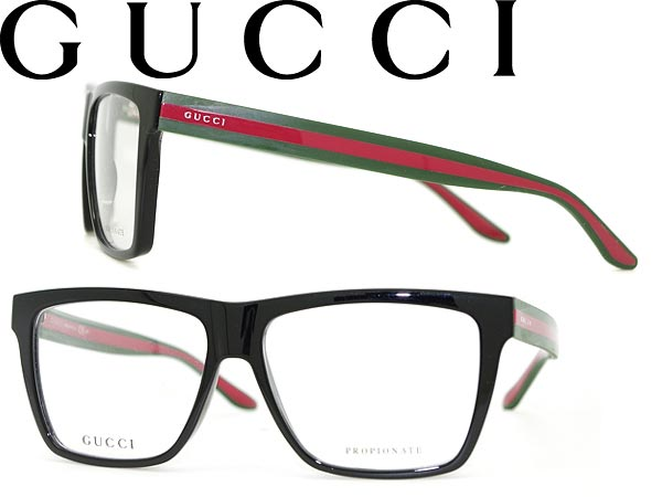 18d217d178c8 Glasses frames Gucci black × green x red Wellington-GUCCI eyeglasses glasses  GUC-GG-1008-51N branded mens   ladies   men for   woman of for and once  with ...