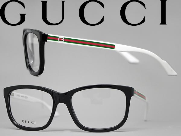 woodnet | Rakuten Global Market: Glasses Gucci black x white GUCCI ...