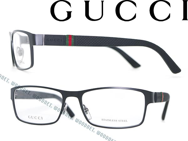 woodnet | Rakuten Global Market: Glasses GUCCI matte black square ...