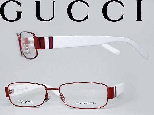 woodnet | Rakuten Global Market: Gucci glasses metallic red x white ...