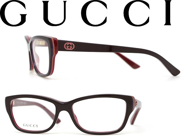 woodnet: Glasses Gucci dark brown x red GUCCI eyeglass frames ...